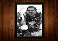 JIM CLARK SIGNED FRAMED PP A4 PRINT FORMULA ONE F1 GIFT IDEAS VINTAGE