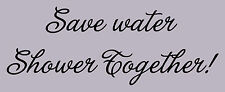 Save water shower together Vinyl Wall Decal 20053