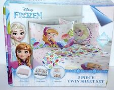 DISNEY FROZEN ELSA ANNA TWIN BED SHEET MICROFIBER 3 PIECE BEDSHEET SET GIRLS