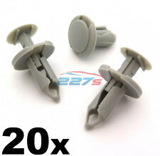 20x 8mm Long Light Grey Trim Clips- Perfect for VW T4 & T5 Carpet & Van Linings