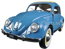 1950 VOLKSWAGEN CLASSIC OLD BEETLE SPLIT WINDOW BLUE 1/18 BY WELLY 18040
