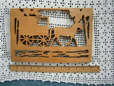 Carved Wood Horse & Buggy Hand Made Wall or Shelf Sitter Amish