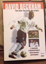 Football Superstars - David Beckham (DVD, 2004) In Very Good Condition