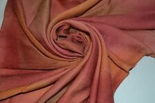 """HAND PAINTED coral handmade PINK multi-color ABSTRACT PASTEL cute 34"""" SILK SCARF"""