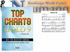 Top Charts Gold 9 Con 2 Playback CDs para Piano, Teclado, Guitarra Y Canto