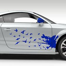 2x Seitendekor Abstrakt Grunge Vögel Dekor Auto Aufkleber Design #1129
