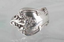 COSTUME DEEP SILVER SPOON VINTAGE RING FASHION 5814