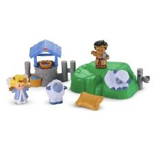 Fisher Price Little People Christmas Lil Shepherds Set Nativity sheep angel 2013