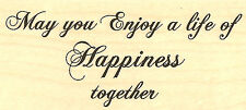 Wedding Happiness Wood Mounted Rubber Stamp IMPRESSION OBSESSION Stamp C5232 New