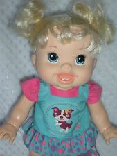 "Blonde Baby Alive Wanna Walk Doll - 2011 Hasbro - Walking & Talking 14"" Doll"