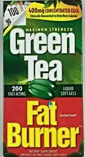 Green Tea Fat Burner 200 soft-gels 400mg concentrated EGCG help burn calories