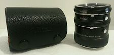 Vivitar Minolta mount AT-5 Automatic Extension Tube Set - 12mm 20mm & 36mm -MINT
