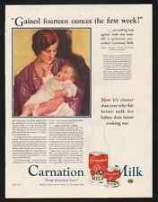 """1931 CARNATION MILK AD-""""FROM CONTENTED COWS""""  HELEN BLACKBURN PAINTING"""