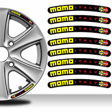 8 Momo Italy Rim Sticker Wheel Stripes Set Emblem Car Auto Tuning Motorcycle C72