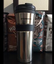 Starbucks 16oz SILVER Stainless Steel Tumbler Travel Mug New!