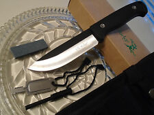 Elk Ridge Bushcraft Survival Hunter Dagger Bowie Knife w Fire Starter Stone 555