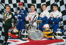 Herbert, Hill, Warwick, Brundle, Blundell Hand Signed 12x8 Photo Formula 1 F1.