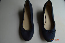 DEICHMANN ARIANE - BLUE BLACK SUEDE WEDGE SHOES UK 7 / 40