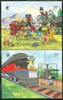 ANTIGUA DISNEY WORLD STAMP EXPO  SET OF  TWO  S/S   SCOTT#1256/57   MINT NH