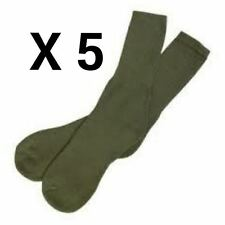 BRITISH ARMY GREEN SOCKS BUNDLE DEAL - BRITISH - USED - GENUINE  - 5 PAIRS