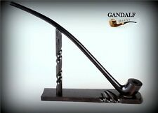 "TOBACCO SMOKING PIPE + STAND Gandalf , Hobbit CHURCHWARDEN LONG 14""   Black"