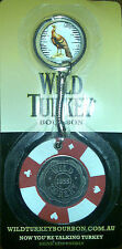 "12 x Wild Turkey Poker Keyring ""NEW"" (4 colours x 3 of each)"