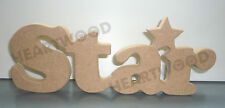 STAR IN MDF (273mm x 18mm thick)/WOODEN CRAFT SHAPE/DECORATION