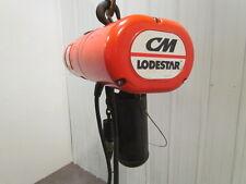 """CM Lodestar A-2 1/8 Ton Electric Chain Hoist 10-32 FPM 2 Speed 11'4"""" Travel 3ph"""