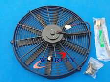 "16"" INCH UNIVERSAL SLIM PUSH PULL ELECTRIC RADIATOR COOLING FAN + MOUNTING KIT"
