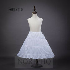 NORIVIIQ New Flower Girl Dress 3 Hoop A Line Crinoline Petticoat Underskirt UK