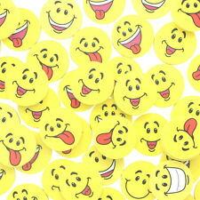 Lot of 48 Large Smile Face Yellow Erasers Party Favors