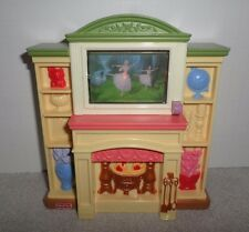 Fisher Price Loving Family Dollhouse Entertainment Center Fireplace Light/Sound