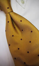 New! Brooks Brothers Burgindy Dots on Yellow SILK TIE  ~$79 NWOT XL