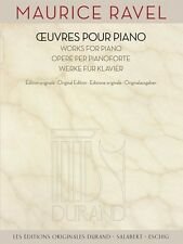 Maurice Ravel Works for Piano Sheet Music Editions Durand Book NEW 050565775