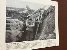 m8-7 ephemera 1938 ww1 picture british soldier western front rockets signal