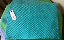 Set of 6 Placemats -- Turquoise Checker Plate Design BY Rapee - 30cm x 40cm