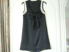 Black Dress Party / Formal  lace sleeve bow front ~ Size 8