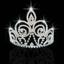 Wedding Bridal Princess Crystal Rhinestone Prom Tiara Crown Headband Silver