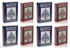 Lot de 8 jeux de 52 cartes POKER MAVERICK 54 cartes Regular Rouge et Bleu 12059
