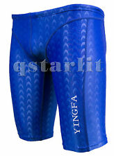 Men Racing Competition Fast Skin Swimwear Jammer Trunk Size 28/30 XL Royal Blue