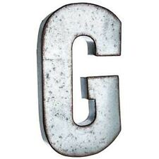"""Large 20"""" Silver Galvanized Vintage Metal Letter & Marquee """"G"""" Free Shipping"""