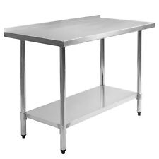 "24"" x 48"" Stainless Steel Work Prep Table with Backsplash Kitchen Restaurant New"
