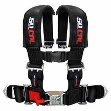 4 Point Safety Harness 3 Inch Seat Belt Commander Maverick General X3 Black UTV