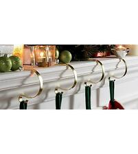 Set of 4 mantel clips for Christmas stockings, lights, garlands Mantle Clips
