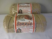 Lot of 2 rolls of Tan 4mm Bonnie Braid Braided Macrame Craft Cord 200yds