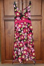 Girls Speechless Brown Halter Dress with Pink Flowers size 14