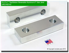 "6 x 2 x 1"" Top/Bottom Reversible Aluminum Soft Jaws for 6"" Kurt Vises (6RJV621A)"