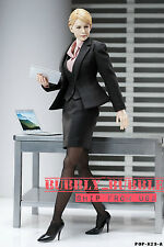 1/6 Office Lady Occupation Black Business Suit W/ Shoes For Hot Toys Phicen USA