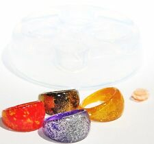 Clear handmade Silicone Mold for 4 Ring size  6 7 8 9  (166) Free USA Shipping.