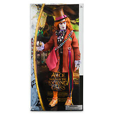 """Disney Store Alice Through the Looking Glass Mad Hatter Johnny Depp 13"""" Doll NIB"""